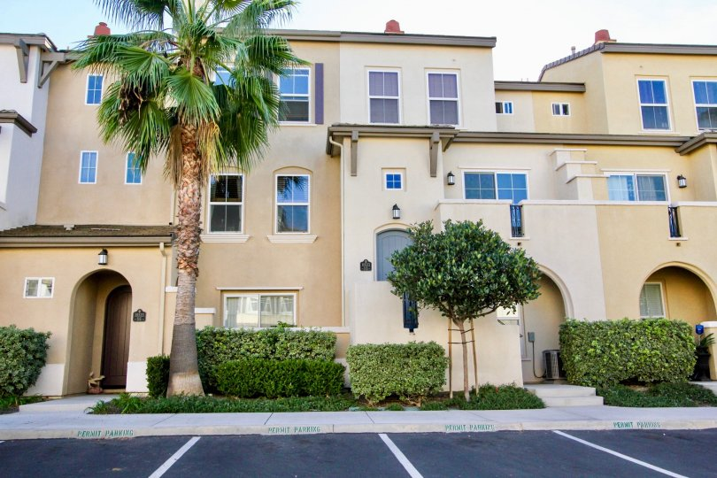 Three story condominiums inside San Moritz in Rancho Bernardo California