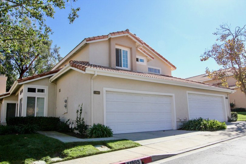 Two story home with two large garages inside Tierra Del Sol at Rancho Bernardo CA