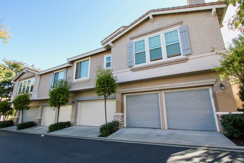 Two gray garage doors on residence at Windham in Rancho Bernardo CA