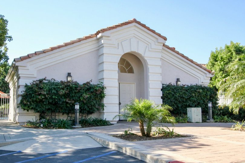 Ambiance Off-White Building with Landscaping San Marcos California
