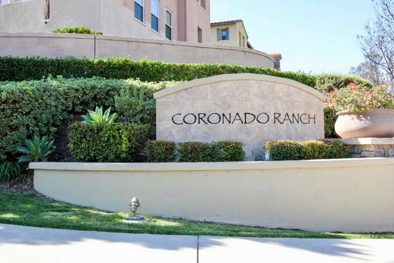 A sunny and clear blue skies day in the community of Coronado Ranch