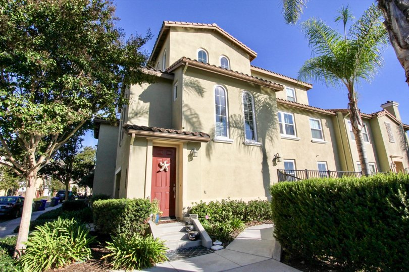 A three story residential building in Larkspur Heights in San Marcos CA