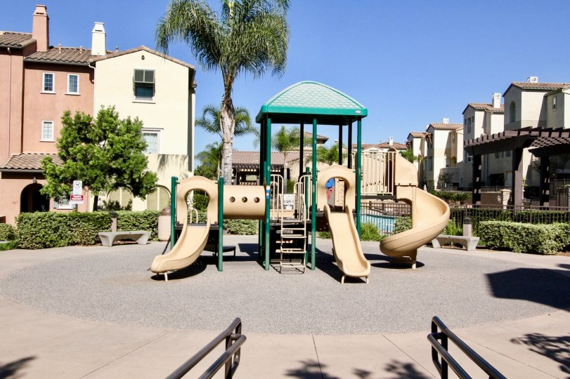 Madiera playground with surrounding condominiums San Marcos California