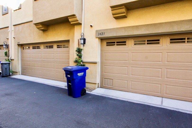 garage view in the Magnolia community located in San Marcos ca
