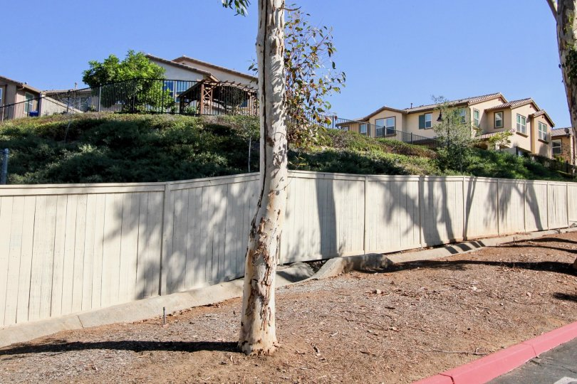 A view of townhouse complexes in the sidewalk in Mission Park neighborhood.