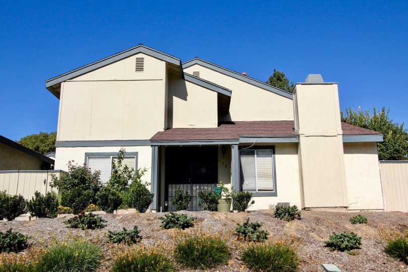 front view picture of Vallecitos Townhomes, located in San Marcos, CA