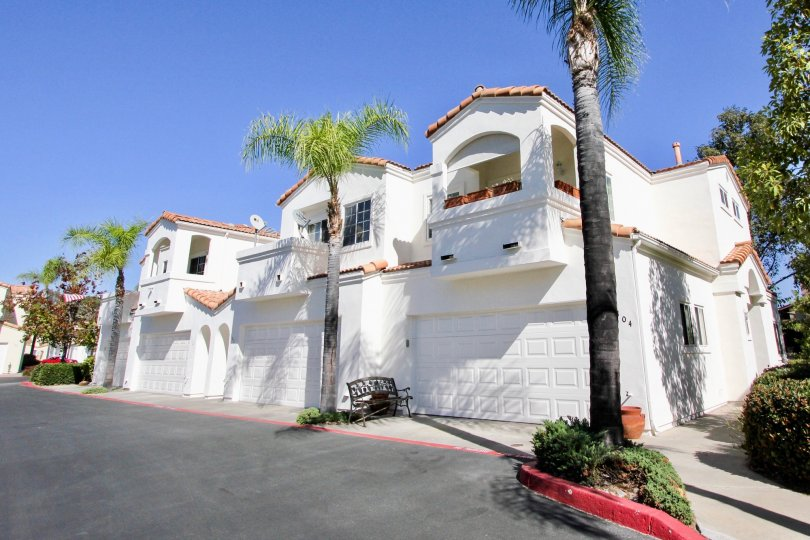 Two story housing units in Villa Aspara at San Marcos California