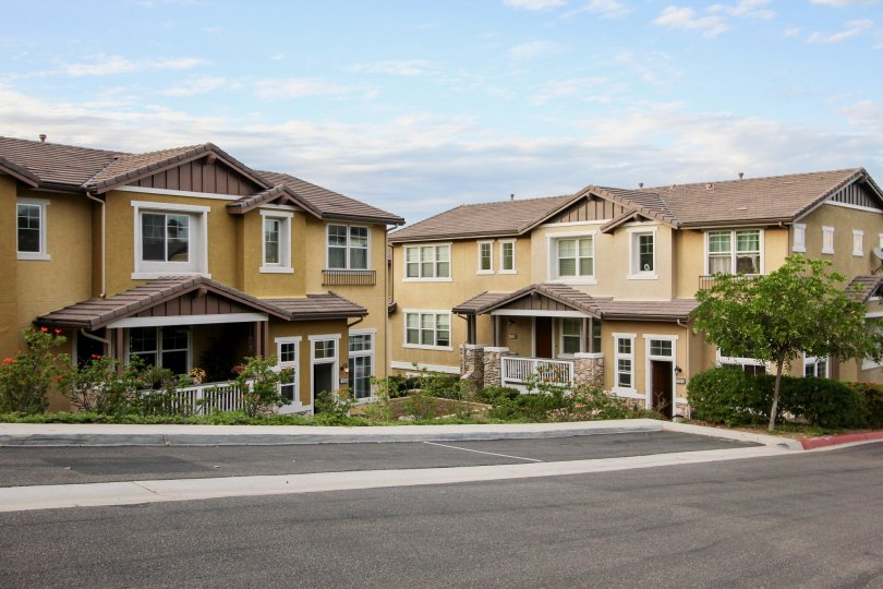 Compact and inviting community with plenty of greenspace and parking at Altair in Santee, California.