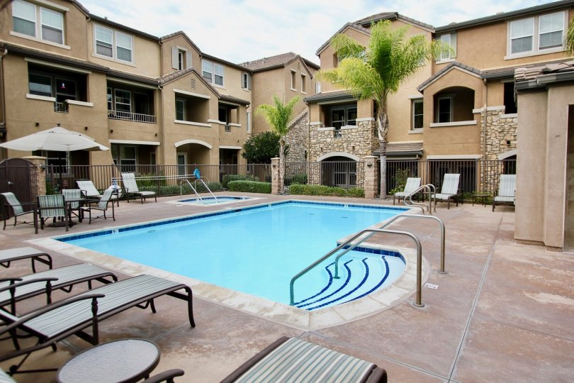 The pool awaits the residences of Aubrey Glen in Santee, California.