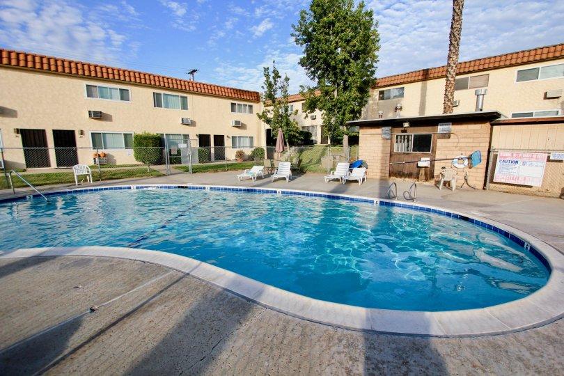 Pool area of Horizon Village in Santee, California