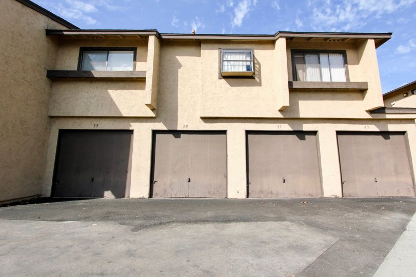 Two story housing with attached garages at Lakeview Carlton Hills in Santee California