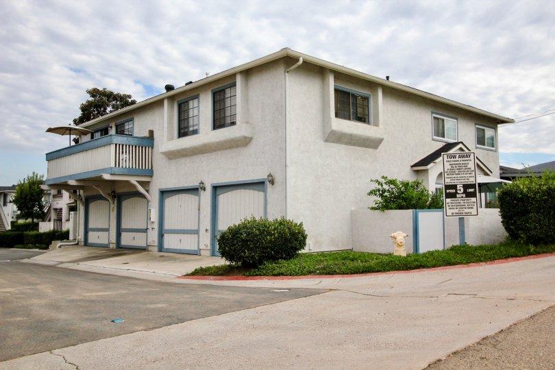 Mission Martinique,: Santee .California,white building,bush