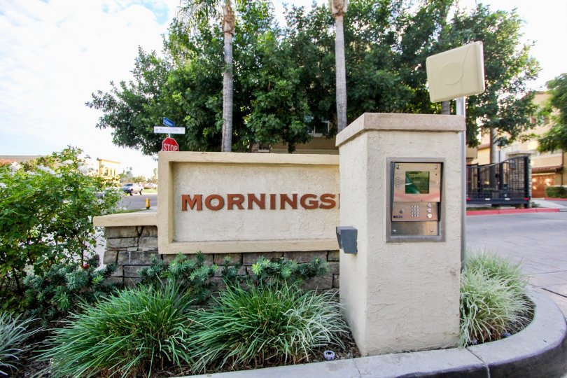 The entrance to the Morningside community in Santee California
