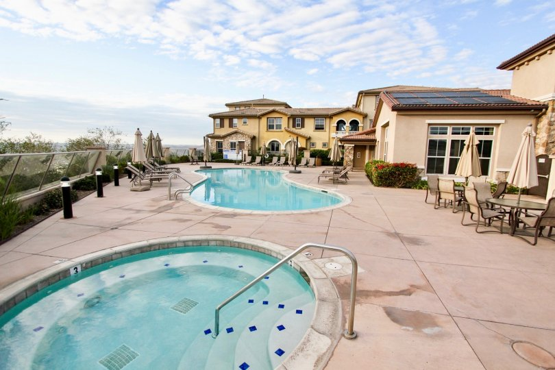 The poolside view in a house in Northstar community of Santee CA