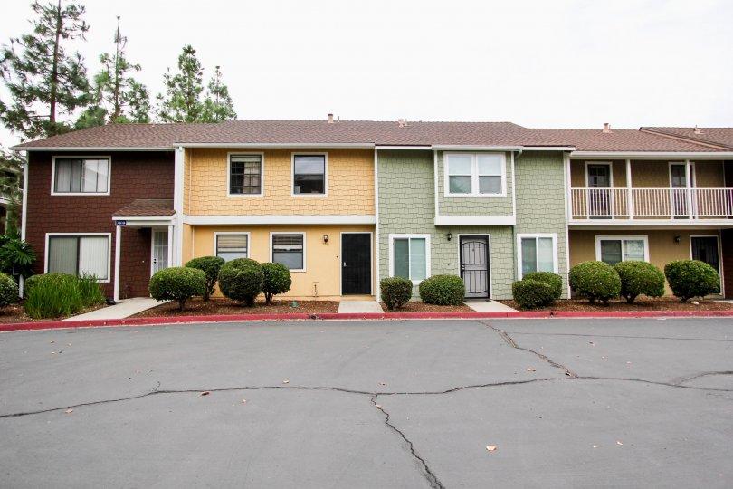 Pepperhill Townhomes,: Santee  , California,elegant building, grey road