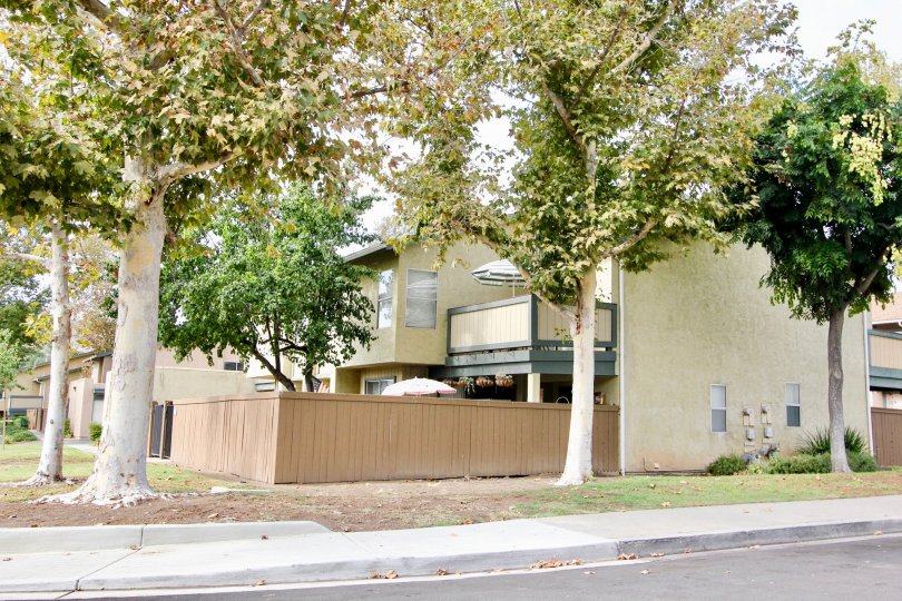 Riderwood Village , Santee  ,California,trees,light brown compound wall