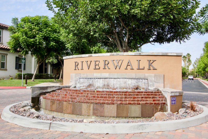 A unconstructed board with the name River Walk on the street of Rio Terrace at Santee
