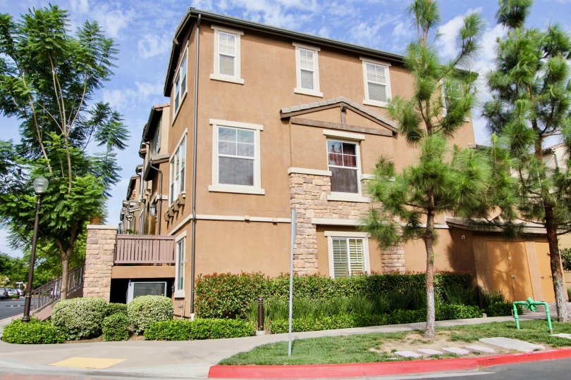 Apartment building at the community Rio Terrace in the city Santee, California