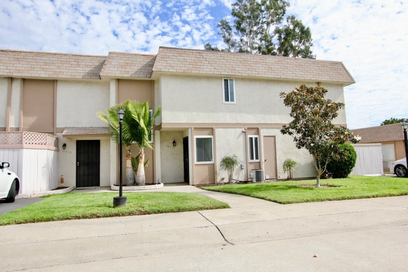 Stucco multi-family home, Santana Ranch, Santee, California