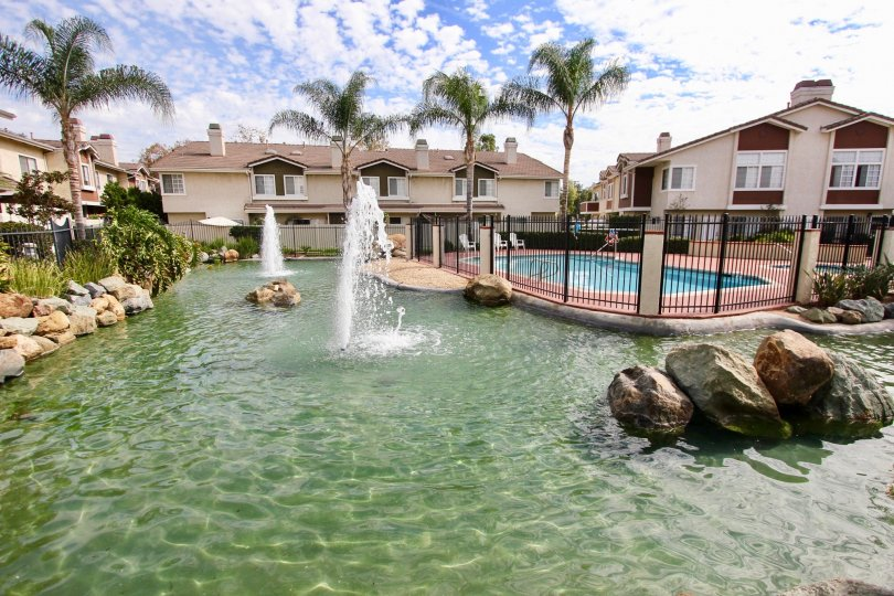A beautiful body of water in The Lakes Community in Santee, CA.