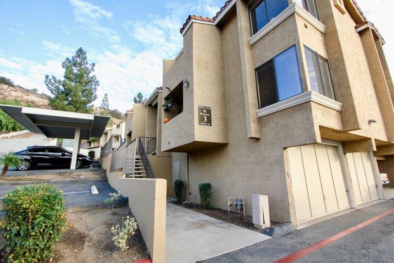 : Towne Villas  , Santee  ,California, garage, black car,