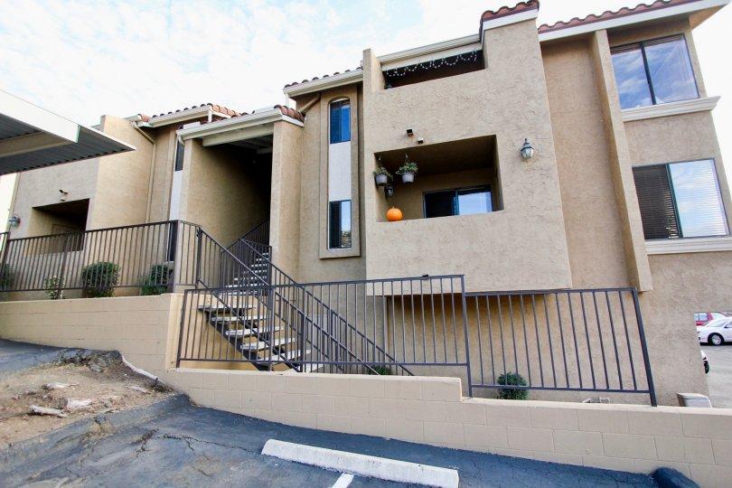 Towne Villas  , Santee ,: California, brown building,glass window