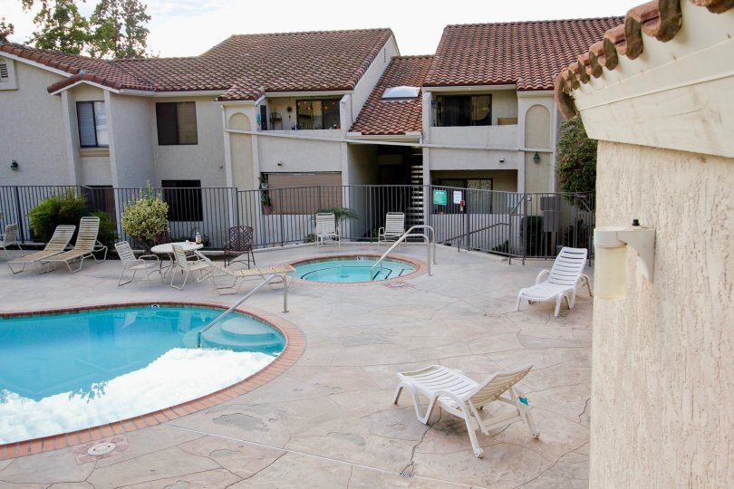 Towne Villas  ,: Santee  ,California,swimming pool,,pool side bed