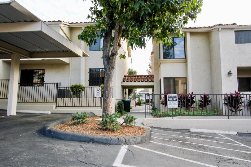 The front of the Towne Villas in Santee California.