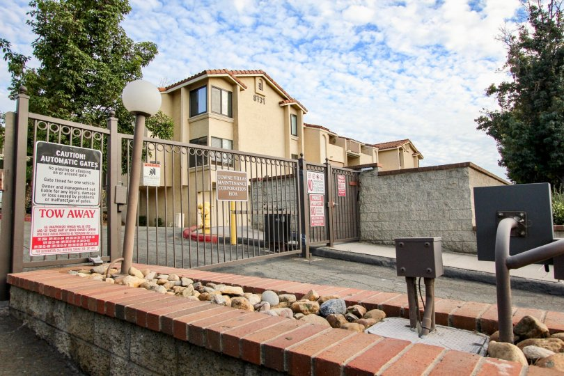 A gorgeous day at the front gate of Towne Villas in Santee, CA