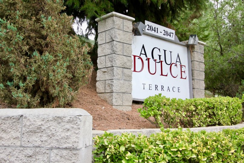 2041-2047 Agua Dulce Terrace sign and landscaping Spring Valley California
