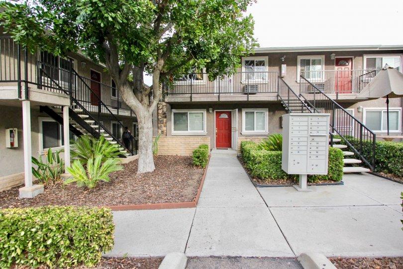 A series of two-storey housing units in Buena Vista Condominiums neighborhood.