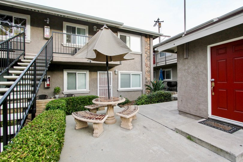 Quaint Outdoor Garden Patio Area in Buena Vista Condominiums Spring Valley California