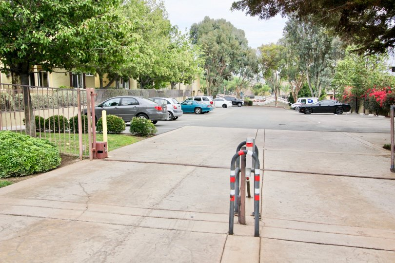 Parking lot of Canyon Villas Community in Spring Valley, CA