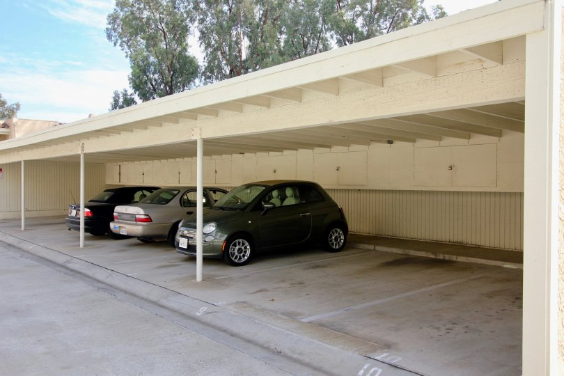 Sweetwater Views in Spring Valley California offer covered parking spaces for those southern California sunny days
