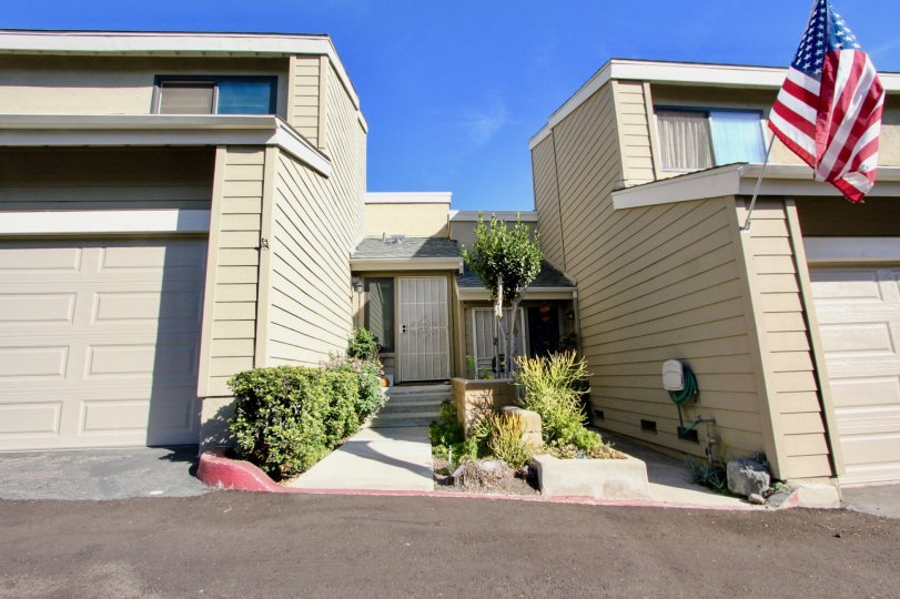 Two story housing units with attached garages at Bridgecreek in Vista California