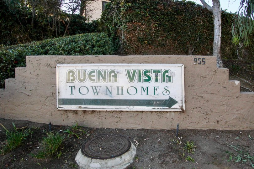 Hearty sign introducing Buena Vista Townhomes, Vista California