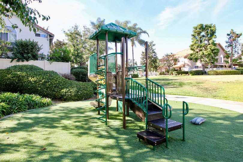 Playground near housing units at California Villas in Vista California
