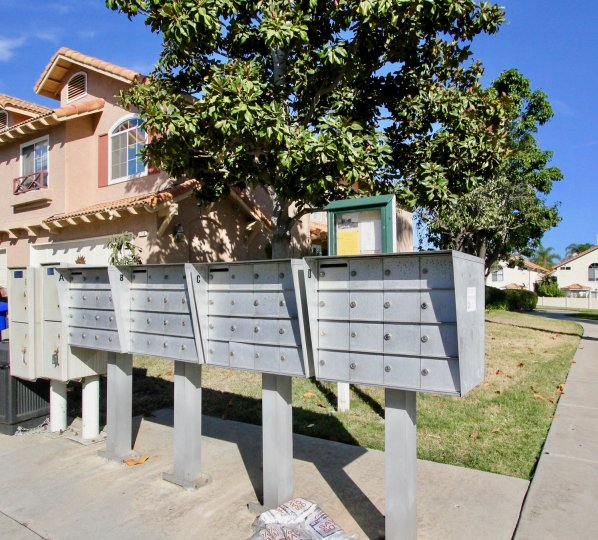 Secured mail boxes at California Villas in Vista California