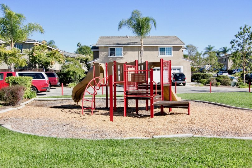 Playground on sand at California Vistas in Vista California