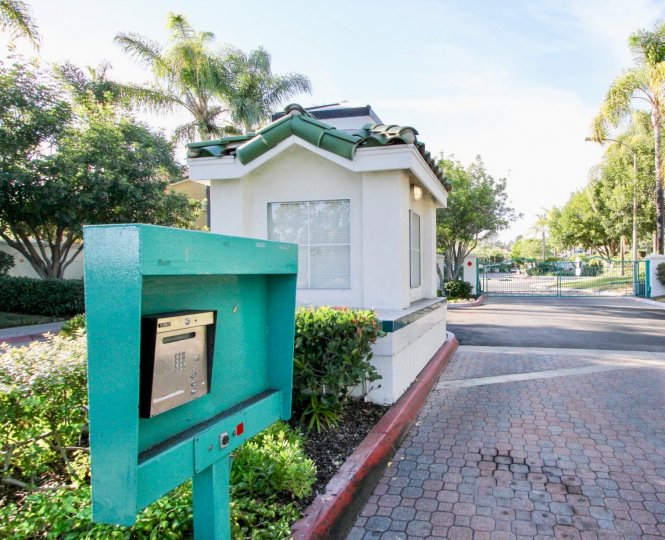 The gated entrance to Calypso in Vista, California provides a safe haven for the residences.
