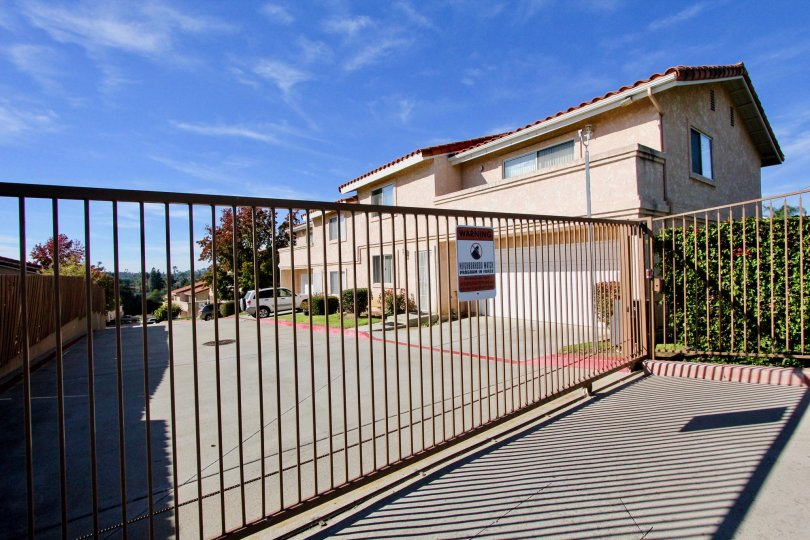 Privacy guaranteed when you're living at the Hillview Townhomes in Vista, CA