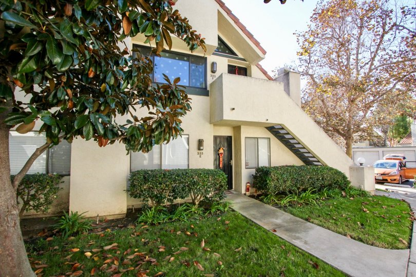 Housing with attached stairway at Melrose Park in Vista California