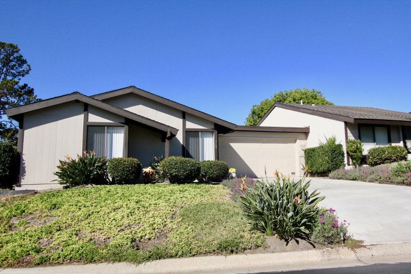 Housing with front yard and driveway at Nob Hill in Vista California