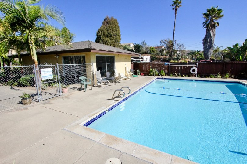 Sunny day & photo of In ground pool of Pine View in Visa, California