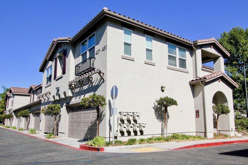 Living quarters of Santa Fe Walk in Vista, California.