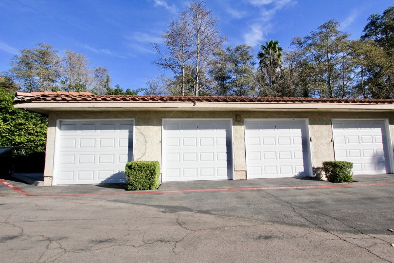 Garages with driveway at Shadowridge glen in Vista California