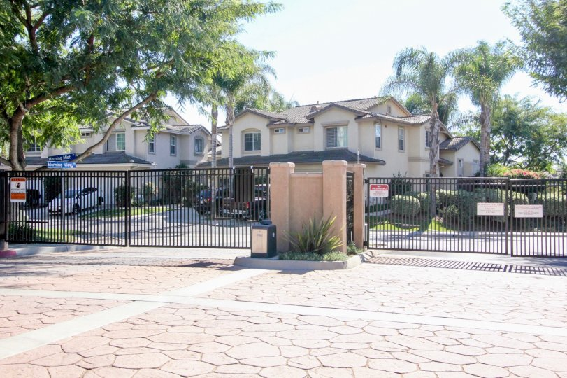 A view of the secure entrance to the beautiful community of Vista Cupertino in Vista, California.
