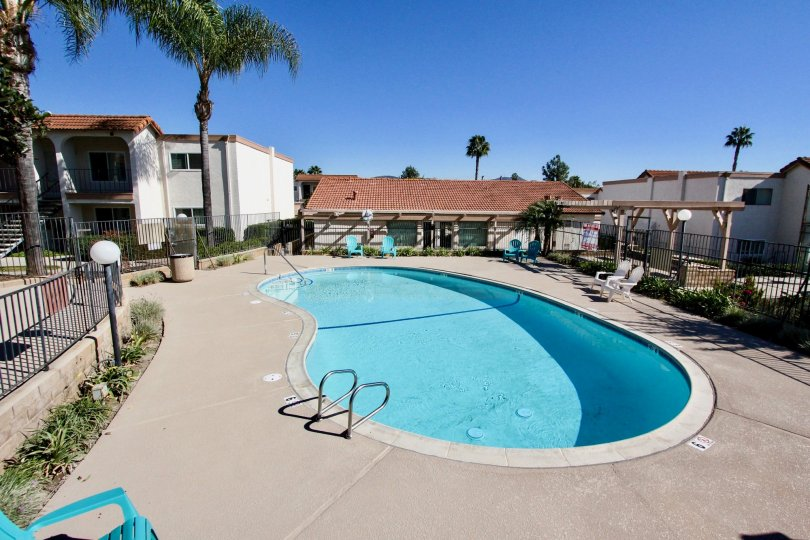 Sunny day at the pool in Vista Hills Estates in Vista, CA