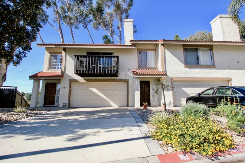 Driveway leading up to residential buildings at Vista Knolls in Vista California