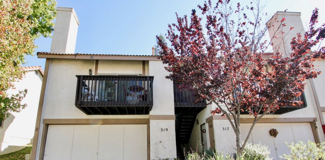 Two story townhomes with attached garages at Vista Knolls in Vista California